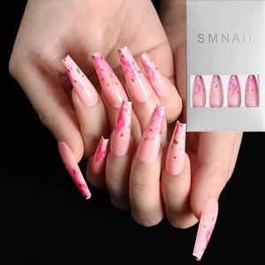NWT pink marble nails